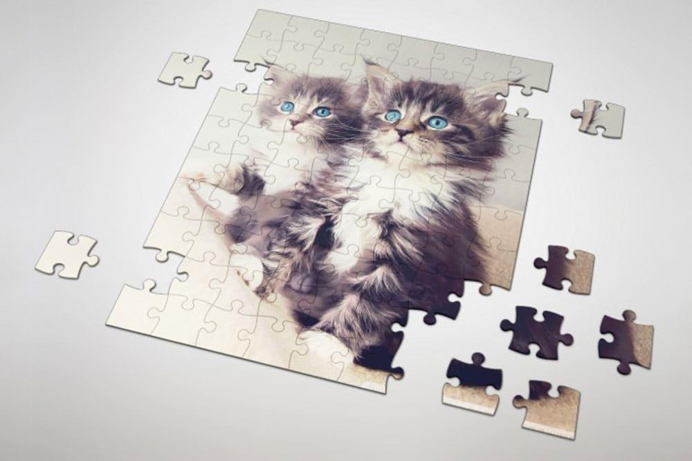 free puzzle mockup