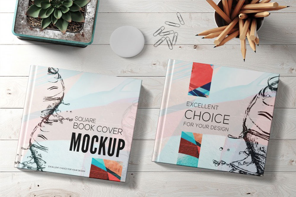 Download This Free Square Book Mockup In Psd Designhooks