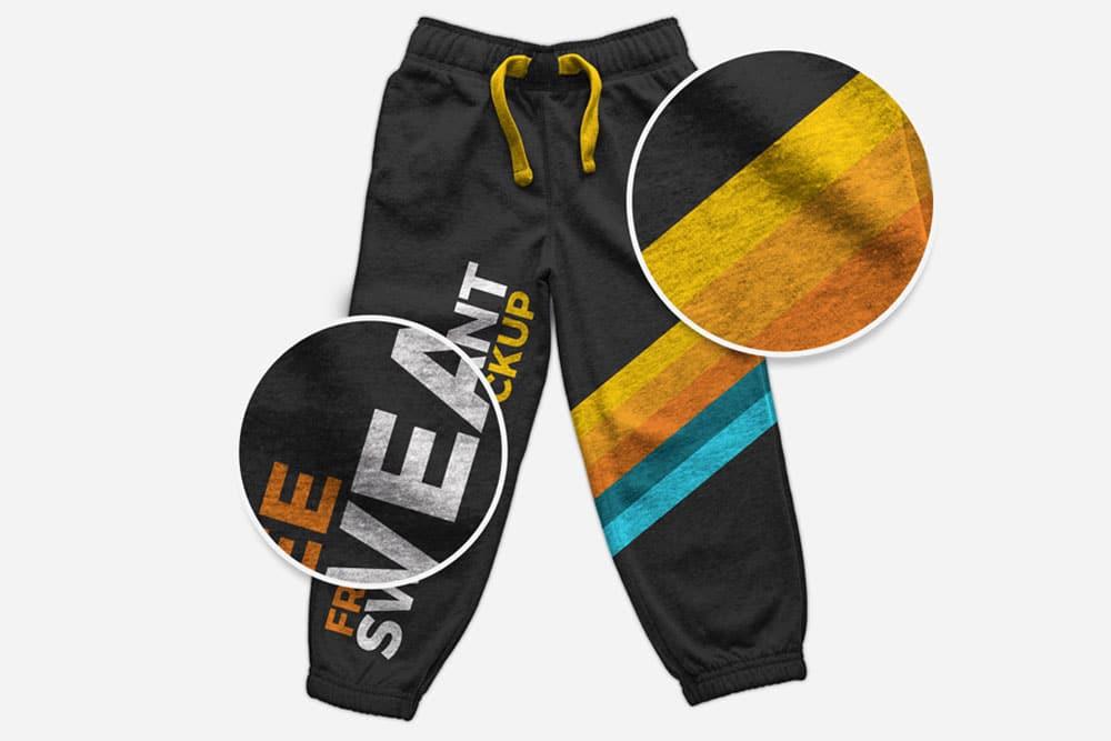 free sweatpants mockup