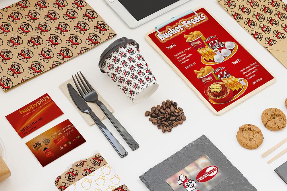free takeaway food composition mockup