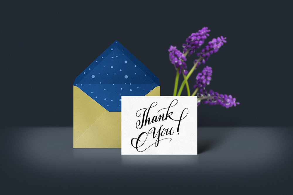 Free Thank You Card Mockup