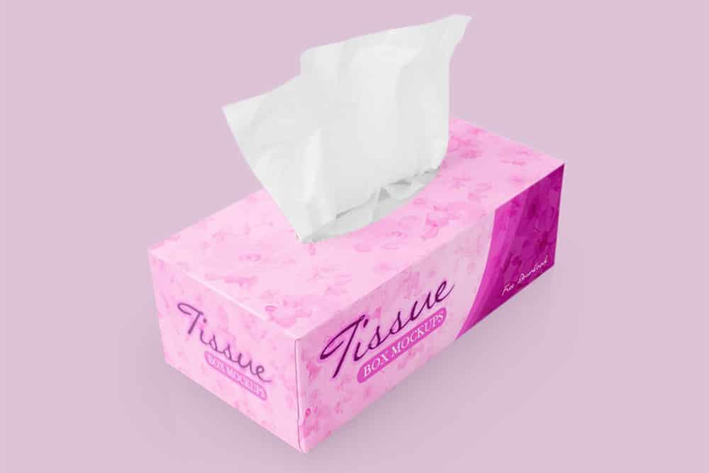 free tissue box mockup