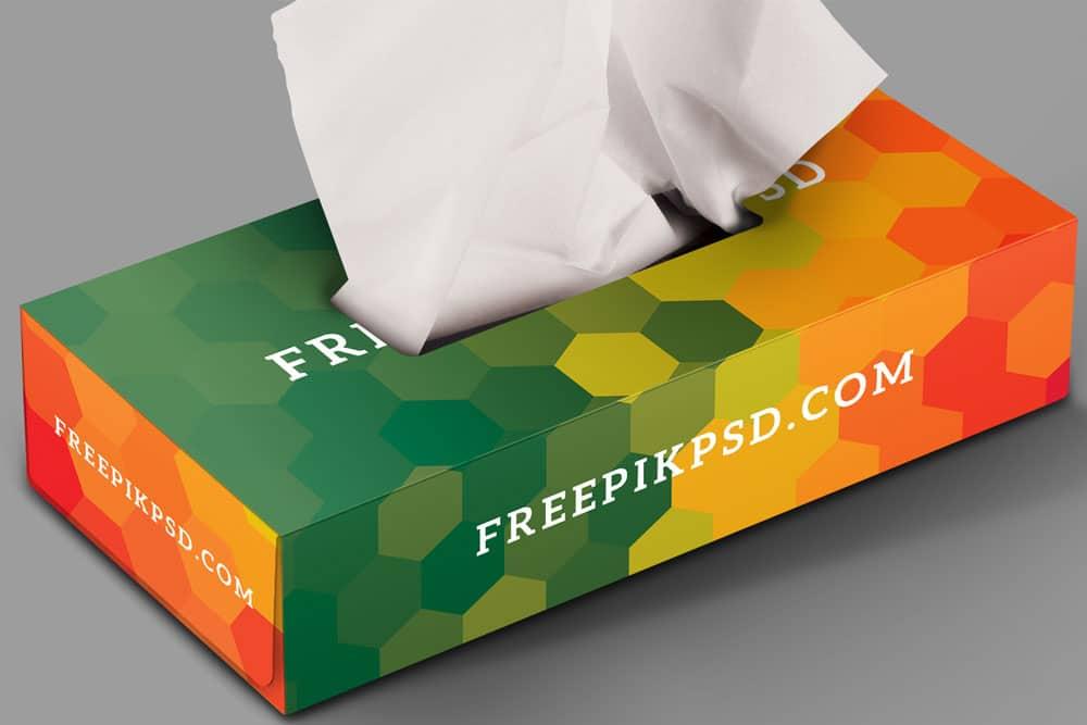 free tissue box psd mockup