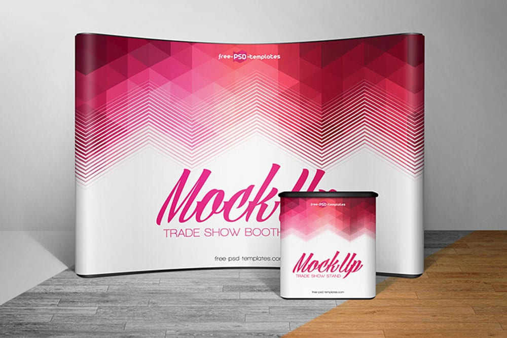 Pop Up Exhibition Stand Mockup Free : Download this free trade show booth mockup in psd