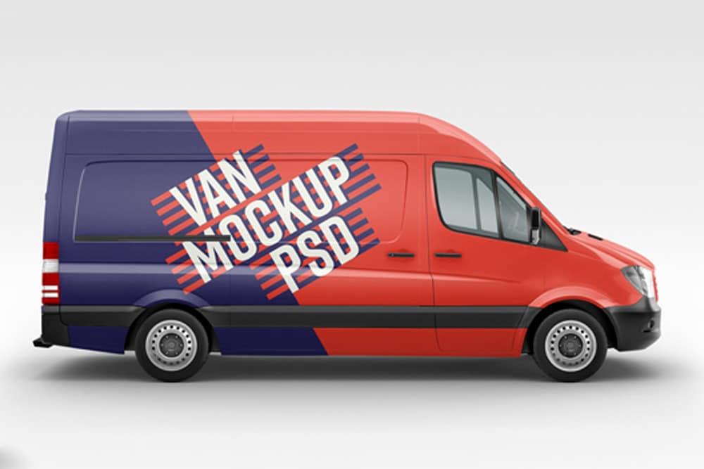 free van mockup