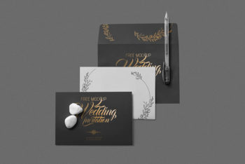 Elegant Wedding Invitation Mockup