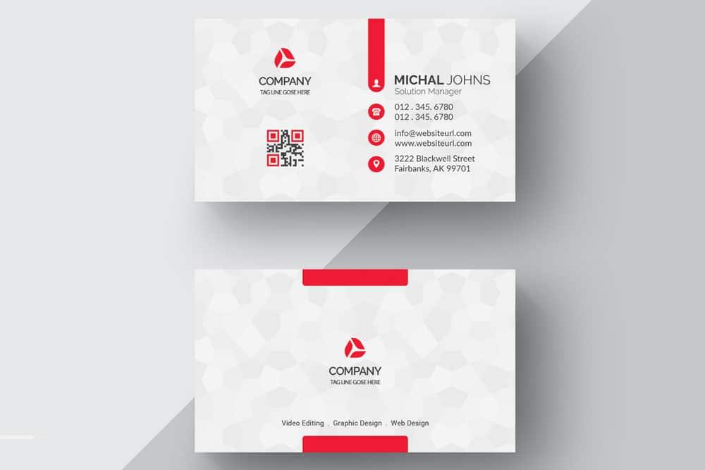 free white business card nockup