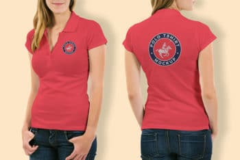 Free Woman Polo Shirt Mockup
