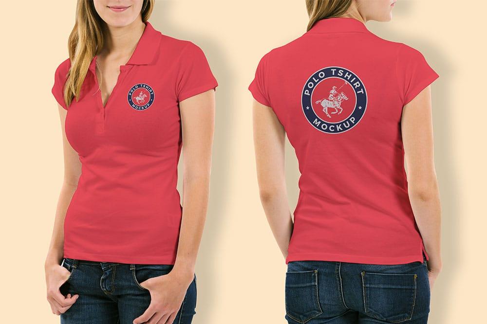 free woman shirt mockup