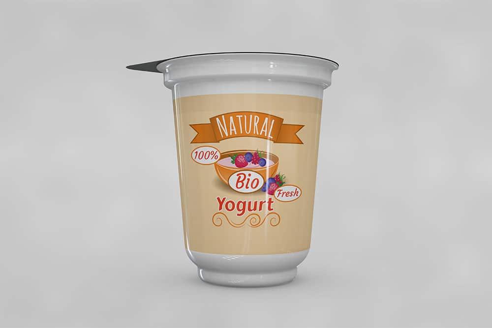 free yogurt mockup