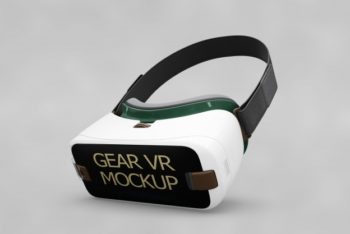 Free Simple VR Headset Mockup in PSD
