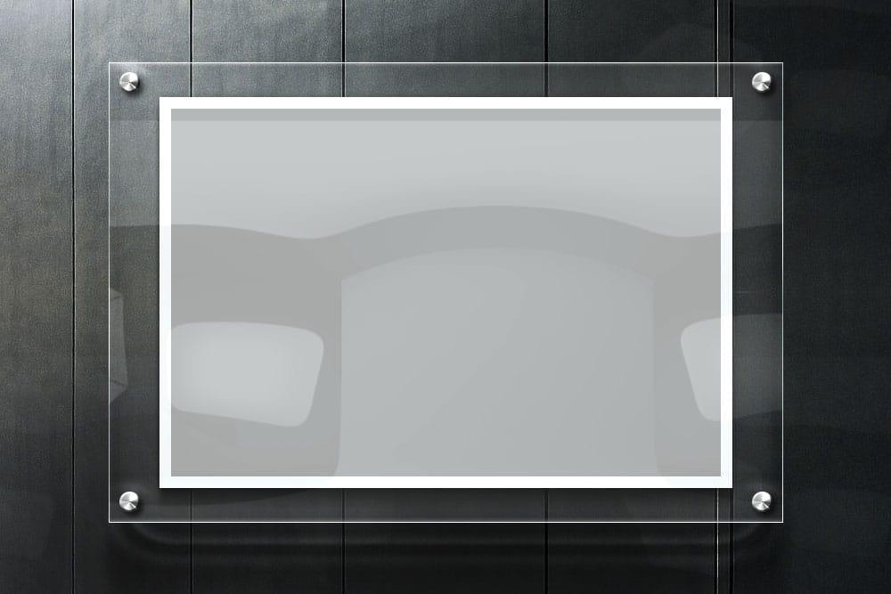 free download glass frame mockup