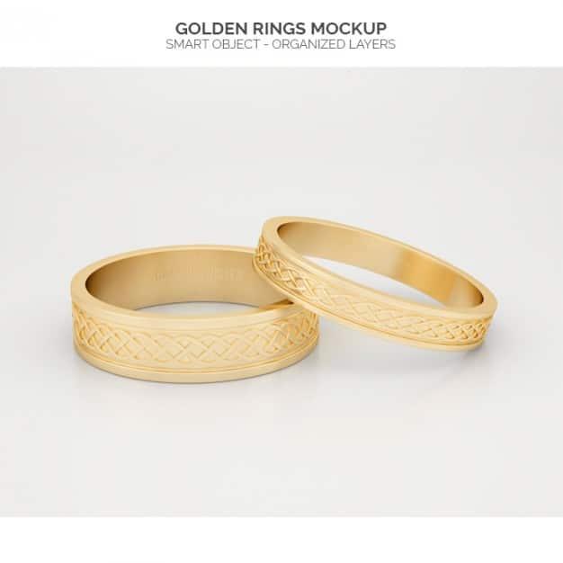 Golden Rings Mockup