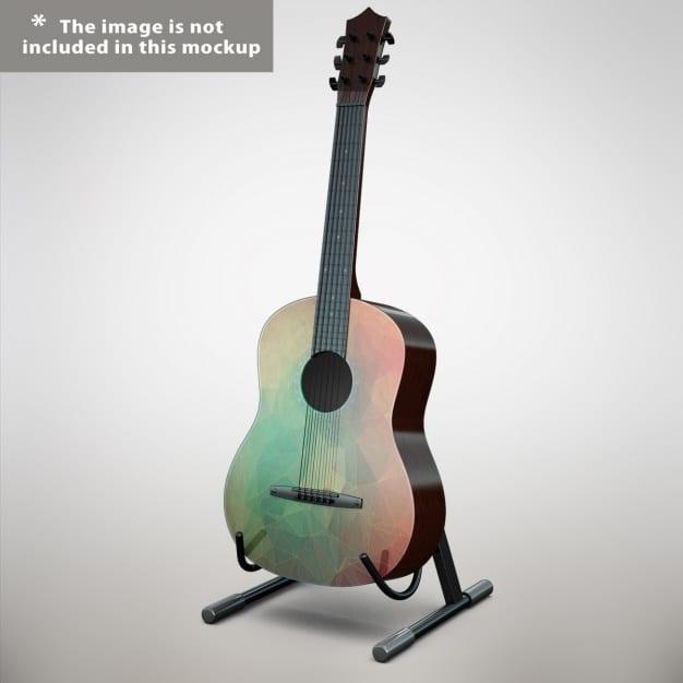 Acoustic Guitar Mockup