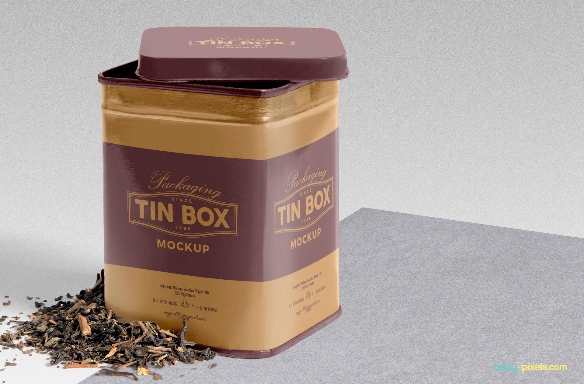 Classy Tin Box