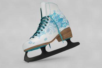 Free Customizable Ice Skates Mockup in PSD