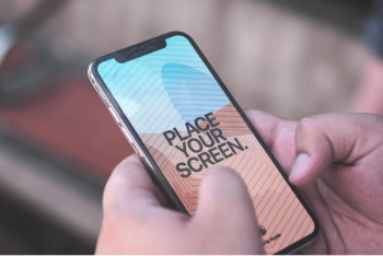 High-Quality & Customizable iPhone X PSD Mockup