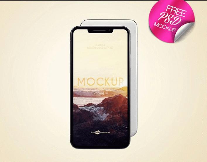 iPhone X PSD Mockup Design
