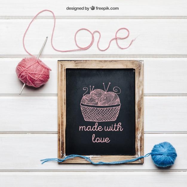 Knitting Scene Mockup