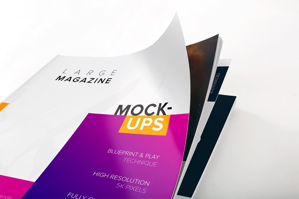 large magazine cover mockup