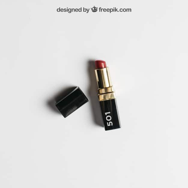 Customizable Lipstick Mockup