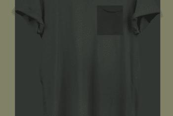 Trendy Longline T-shirt PSD Mockup