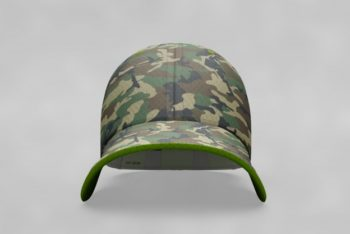 Free Military Theme Cap Mockup in PSD
