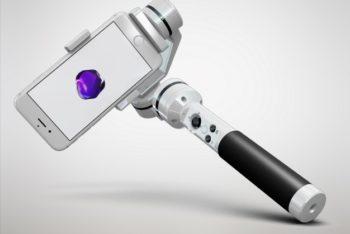 Free Phone Plus Selfie Stock Mockup in PSD