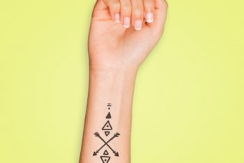 Free Tattoo Plus Arm Mockup in PSD