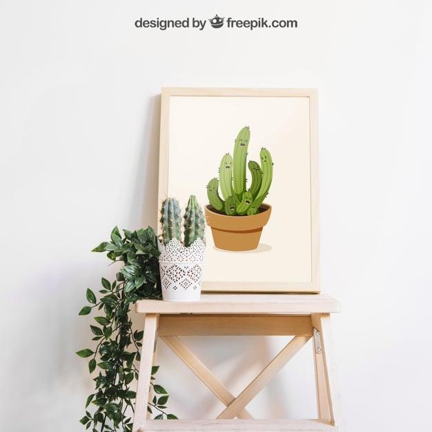 Simple Frame Plus Cactus