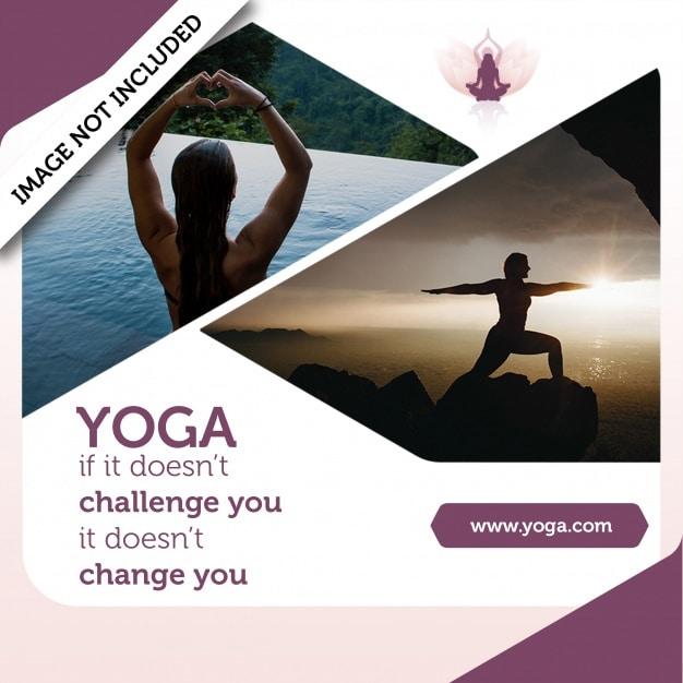 Modern Yoga Concept