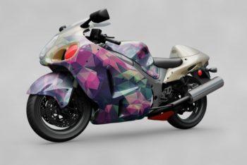 Free Big Motorbike Mockup in PSD