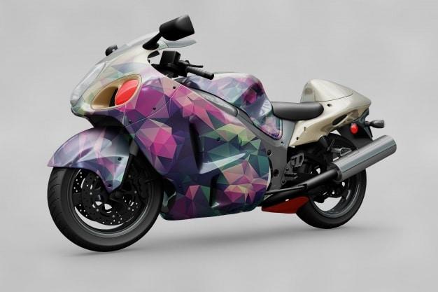 Big Motorbike Mockup