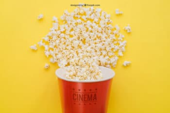 Movie Popcorn Mockup Freebie in PSD