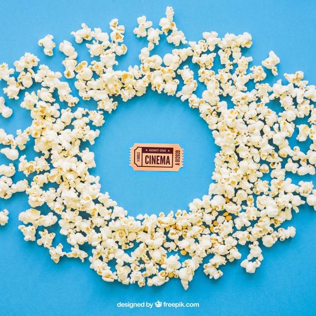 Popcorn Around Movie Ticket