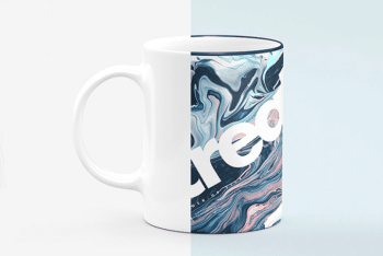Sublimation Coffee Mug PSD Mockup with an Adorable Look
