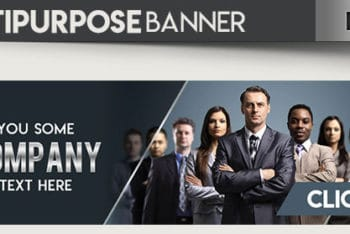 All-inclusive Banner PSD Mockup for Various Purposes