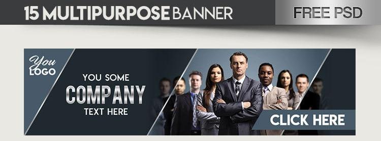 Multipurpose Banner PSD Mockup Free