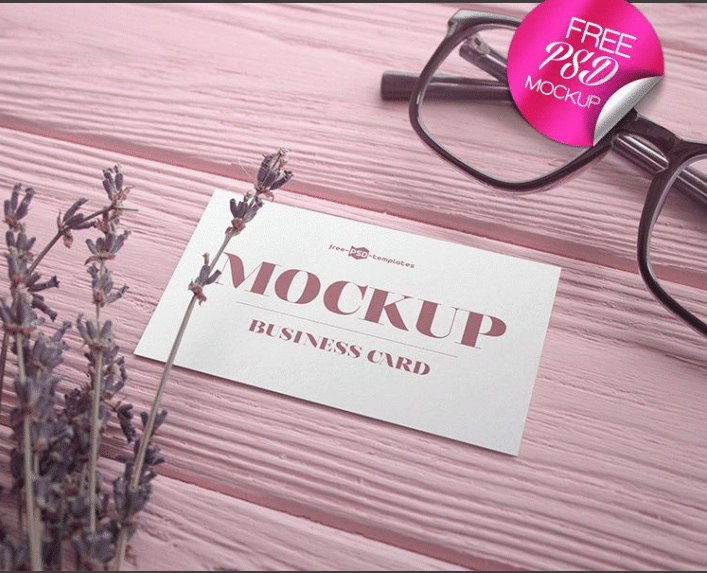 Business Card PSD Mockup - Two Designs