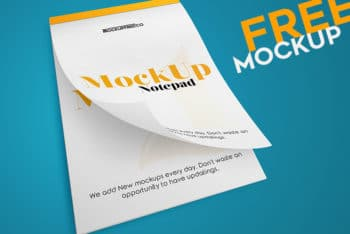 Useful Notepad PSD Mockup