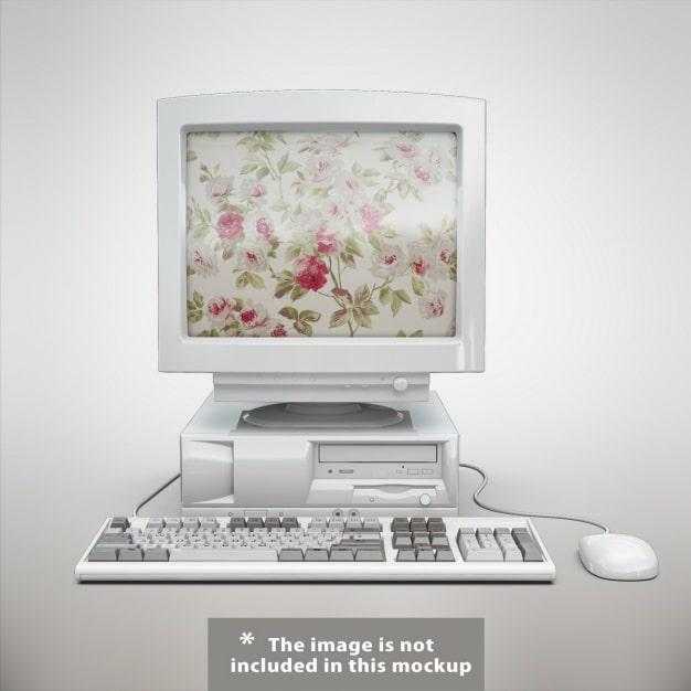 Old Computer Mockup