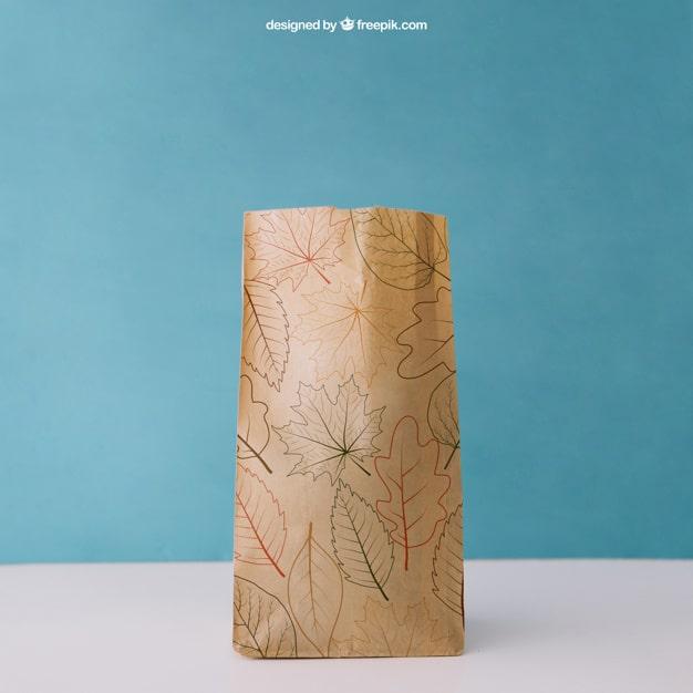Artsy Autumn Paper Bag