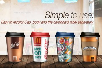 Free Coffee Cup Mockup in PSD