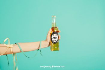 Free Party Concept Plus Beer Mockup