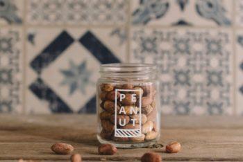 Free Customizable Peanut Plus Jar Mockup