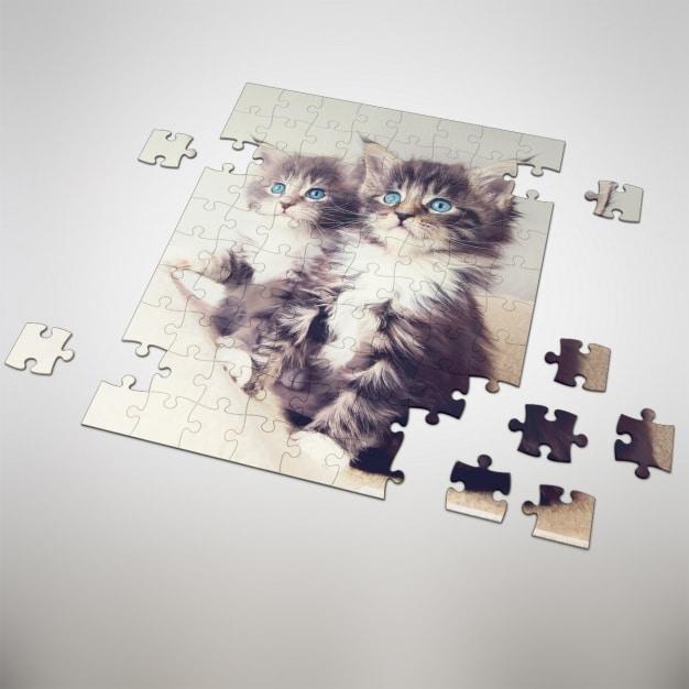 Customizable Puzzle Mockup