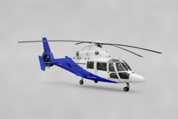 Free Realistic Helicopter Mockup in PSD