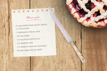 Delicious Realistic Pie Mockup Freebie in PSD