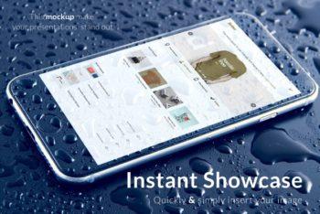 Realistic Waterproof Phone Mockup in PSD