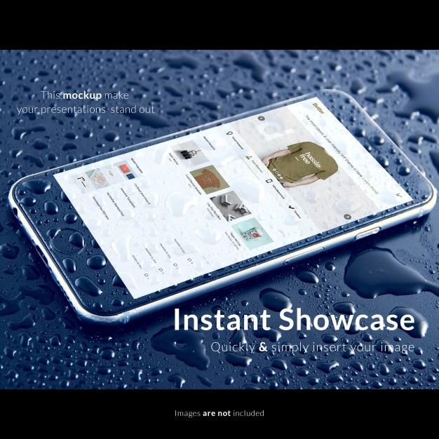 Waterproof Phone Mockup
